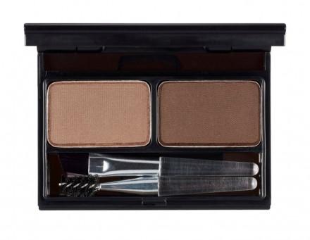 Палетка для бровей It's Skin It's Top Professional Eyebrow Cake тон 01, коричневый+темно-коричневый, 2г+2г: фото