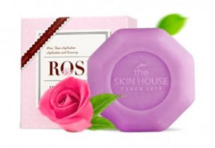 Мыло с экстрактом розы THE SKIN HOUSE Rose heaven soap 90г: фото