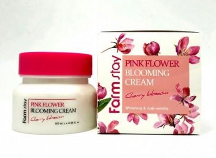 Крем с экстрактом цветов вишни FARMSTAY Pink flower blooming cream cherry blossom 100 мл: фото