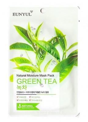 Тканевая маска с зеленым чаем EUNYUL Natural moisture mask pack green tea 23мл: фото