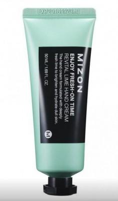 Крем для рук с экстрактом лайма MIZON Enjoy Fresh On-Time Revital Lime Hand Cream: фото
