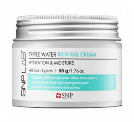 Глубоко увлажняющий крем-гель SNP Lab+Triple water rich gel cream 50г: фото