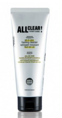 Пенка для умывания THE FACE SHOP All clear all in-one foaming cleanser 150 мл: фото