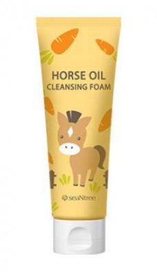 Пенка для умывания с лошадинным жиром SEANTREE Horse oil cleansing foam 120мл: фото