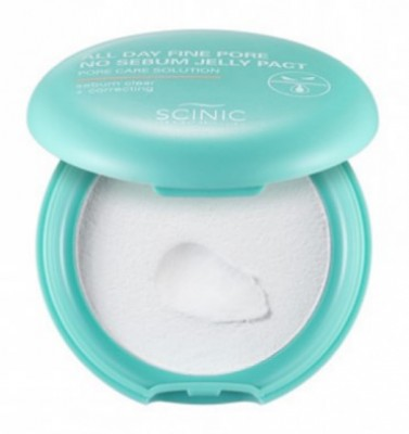 Жидкая бесцветная пудра SCINIC All Day Fine Pore No Sebum Jelly Pact 8,5г: фото