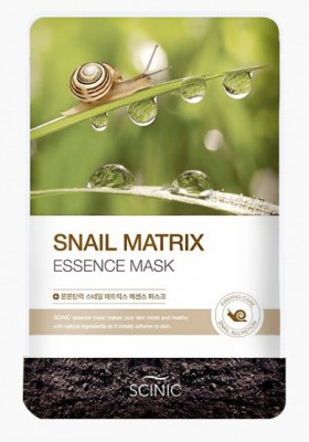 Восстанавливающая маска со слизью улитки SCINIC Snail matrix essence mask 20мл: фото