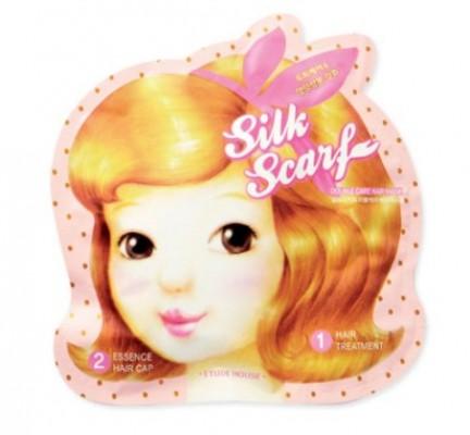 Маска-шапочка для волос восстанавливающая ETUDE HOUSE Silk Scarf Double Care Hair Mask: фото