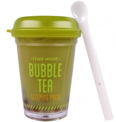 Маска ночная с экстрактом зеленого чая ETUDE HOUSE Bubble Tea Sleeping Pack Green Tea: фото