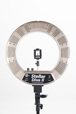 Кольцевая лампа Stellar LED Diva Ring Light II Gold: фото