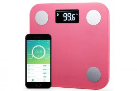 Умные весы YUNMAI mini, розовые: фото