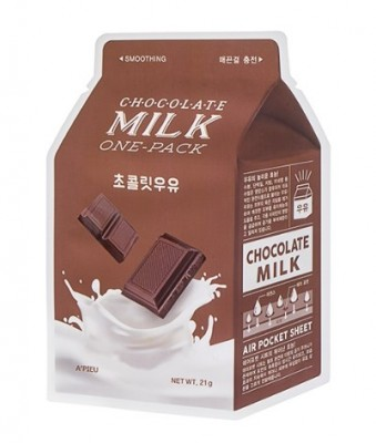 Тканевая маска молочная с какао и сливой A'PIEU Chocolate Milk One-Pack: фото