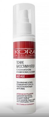 Тоник биостимулятор с коллагеном и аминокислотами Anti-age KORA 150мл: фото