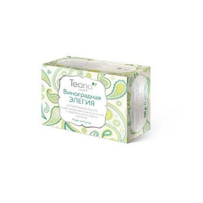 Натуральное мыло-скраб для лица и тела с пудрой из виноградных косточек TEANA 100г: фото