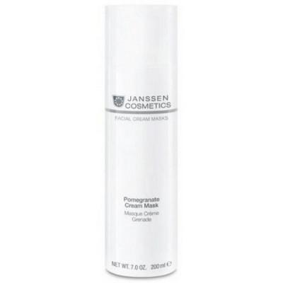 Маска-крем омолаживающая с экстрактом граната и витамином С Janssen Cosmetics Pomegranate Cream Mask 200мл: фото