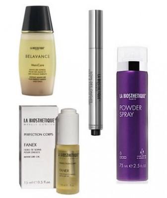 Набор в тубе La Biosthetique Beauty Box Воскресение: ManiCare 100 мл, Nail & Cuticle Care Pen 2,5 мл, SPA Fanex 15 мл, Powder Spray 75 мл: фото