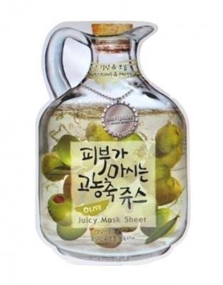 Маска тканевая фруктовая Baviphat Olive Juicy Mask Sheet nutrition & Moisturizing 23г: фото
