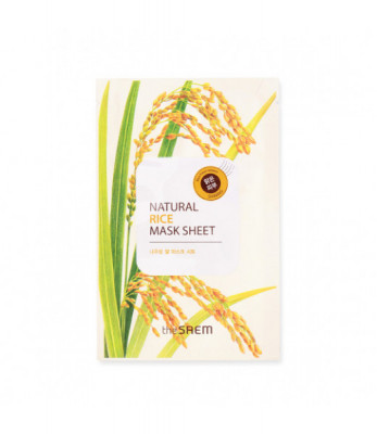 Маска тканевая с экстрактом риса THE SAEM Natural Rice Mask Sheet NEW 21мл: фото