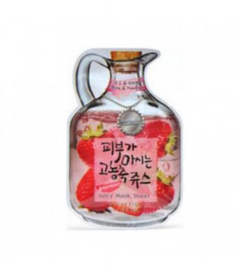 Маска тканевая фруктовая Baviphat Strawberry Juicy Mask Sheetpore & trouble 23гр: фото