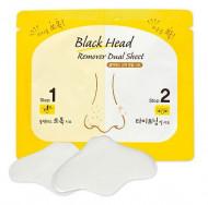 Комплекс по очищению пор носа ETUDE HOUSE Black Head Remover Dual Sheet 1sheet 3мл*2г: фото