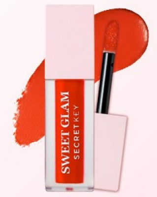 Тинт для губ вельветовый SECRET KEY Sweet Glam Velvet Tint 02 Orange berry 5г: фото