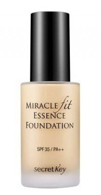Тональная основа жидкая SECRET KEY Miracle Fit Essence Foundation 21 Light Beige 30мл: фото