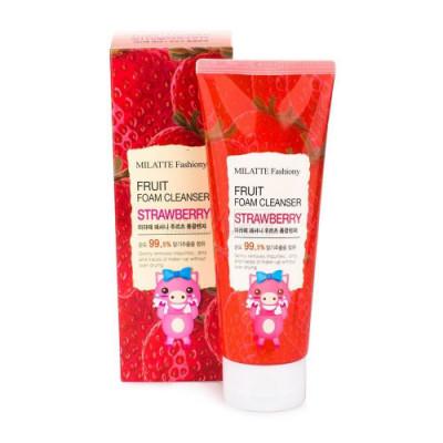 Пенка для умывания Milatte Fashiony Fruit Foam Cleanser Strawberry Клубника, 150 мл: фото