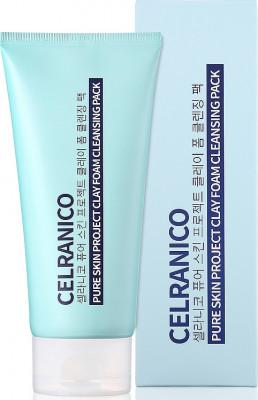 Маска-пенка Очищающая с глиной CELRANICO PURE SKIN PROJECT CLAY FOAM CLEANSING PACK 150 мл: фото