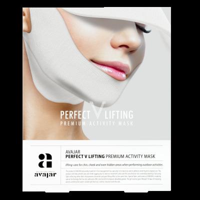 Маска лифтинговая с SPF защитой AVAJAR perfect V lifting premium activity mask 1шт: фото