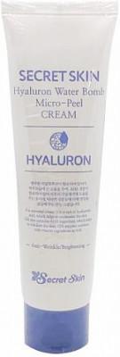 Крем для лица гиалуроновый SECRET SKIN HYALURON WATER BOMB MICRO PEEL CREAM 70г: фото