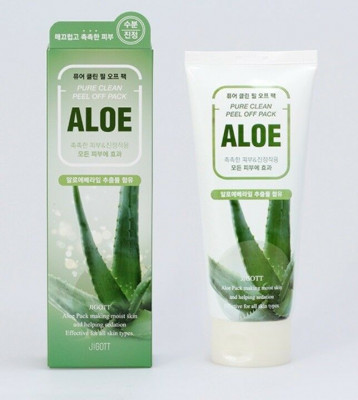 Маска-плёнка для лица на основе экстракта алоэ JIGOTT Aloe Pure Clean Peel Off Pack: фото