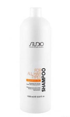 Шампунь для всех типов волос с пшеничными протеинами Kapous Studio Shampoo With Wheat Proteins 1000 мл: фото
