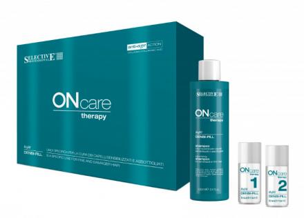 Набор для восстановления волос Selective Professional On Care Therapy Densi-Fill 5+5*15мл+100мл: фото
