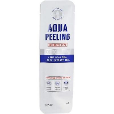 Палочки очищающие для лица с АНА-кислотами A'PIEU Aqua Peeling Cotton Swab Intensive: фото