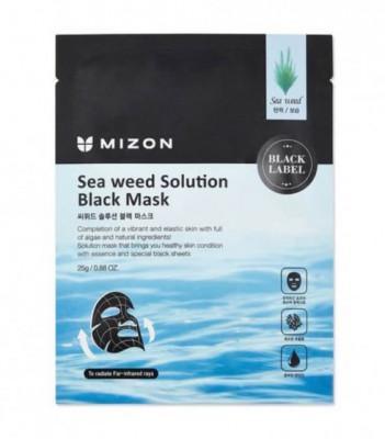 Тканевая маска с морскими водорослями MIZON Sea Weed Solution Black Mask: фото