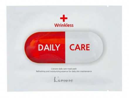 Тканевая маска-лифтинг для лица L'arvore Daily Care Mask Wrinkless 25 г: фото