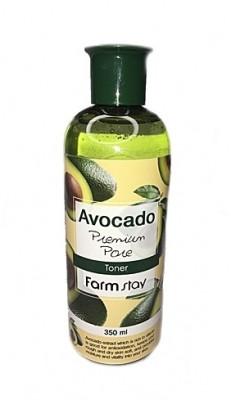 Тонер с экстрактом авокадо FarmStay AVOCADO PREMIUM PORE TONER 350мл: фото