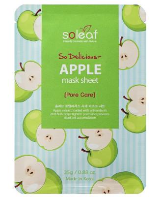 Маска тканевая отшелушивающая с яблоком Soleaf So Delicious Apple Mask Sheet 25мл: фото