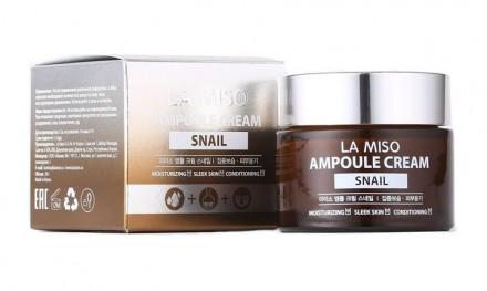 Крем ампульный с экстрактом муцина улитки LA MISO Ampoule Cream Snail 50 г: фото