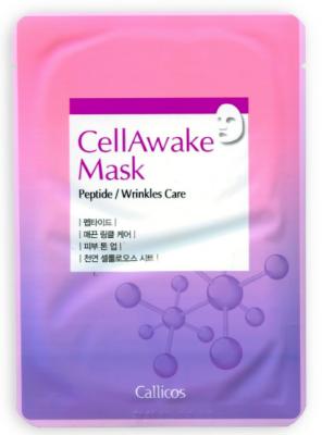 Тканевая маска омолаживающая с пептидами CellAwake Peptide 25 г: фото