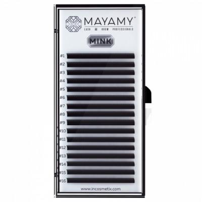 Ресницы MAYAMY MINK 16 линий С 0,12 8 мм: фото
