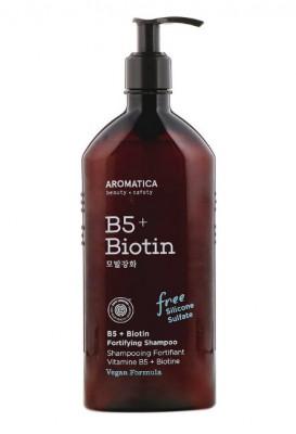 Шампунь с витамином В5 и биотином AROMATICA B5+Biotin Fortifying Shampoo 400мл: фото