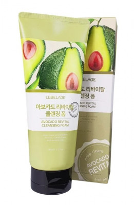 Пенка очищающая с экстрактом авокадо LEBELAGE Cleansing Foam Avocado Revital 180мл: фото