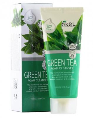 Пена для умывания с экстрактом зеленого чая Ekel Foam Cleanser Green Tea 100 мл: фото