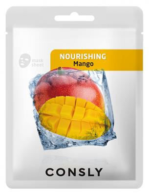Тканевая маска питательная с экстрактом манго CONSLY MANGO NOURISHING MASK PACK 20мл: фото