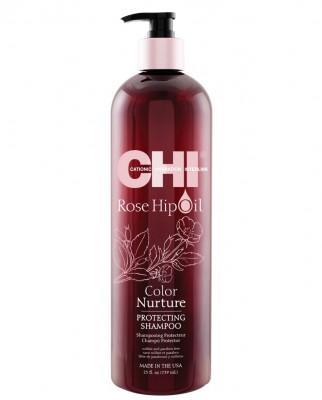 Шампунь Поддержание Цвета с Маслом Дикой Розы CHI Rose Hip Oil Color Nurture Protecting Shampoo 739 мл: фото