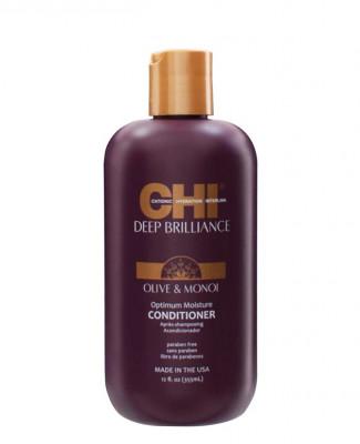 Кондиционер Оптимальное Увлажнение CHI Deep Brilliance Olive & Monoi Optimum Moisture Conditioner 355 мл: фото