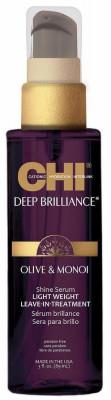 Сыворотка-Сияние Легкая Несмываемая CHI Deep Brilliance Olive & Monoi Shine Serum Light Weight Leave-In Treatment 89 мл: фото