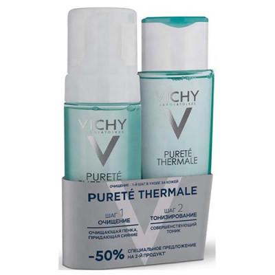 Набор Очищающие средства Vichy Purete Thermal: Совершенствующий тоник 200 мл + Очищающая пенка 150 мл: фото