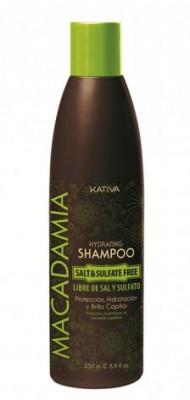 Интенсивно увлажняющий шампунь для нормальных и поврежденных волос Kativa MACADAMIA 250мл: фото