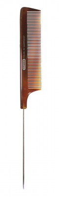 Расческа с металлическим хвостиком Titania 21см коричневая: фото